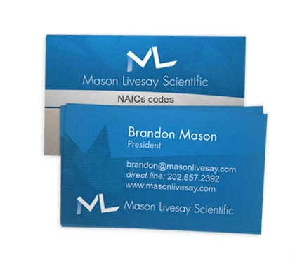 Mason Livesay Scientific business cards